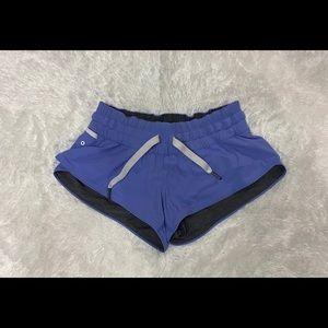 Lululemon Blue and Grey reversible shorts